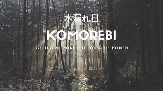 komorebi - licht door de bomen