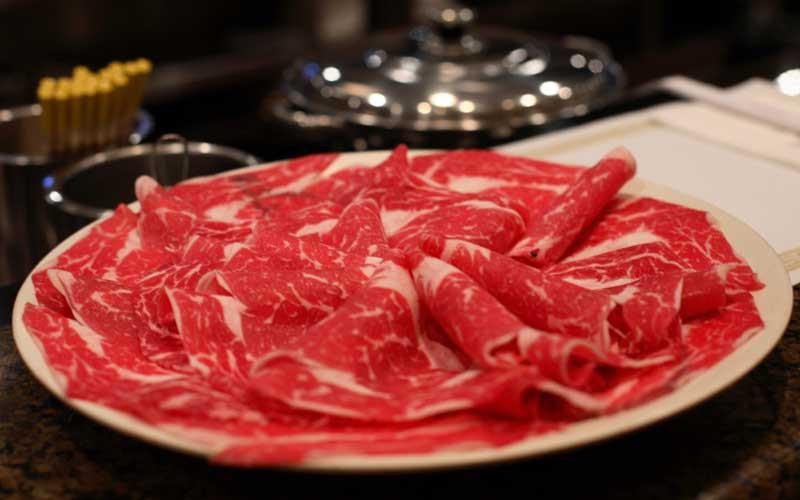 Het shabu shabu vlees