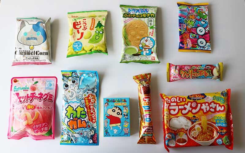 De inhoud van de Japan Candy Box