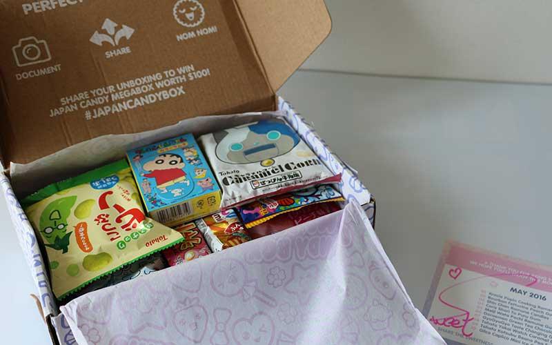 Japan Candy Box met inhoud.